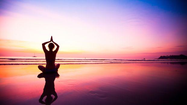 Yoga Sunset  Image