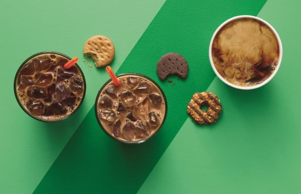 Dunkin' Donuts Now Offering A Trio Of Girl Scout Flavored Coffees