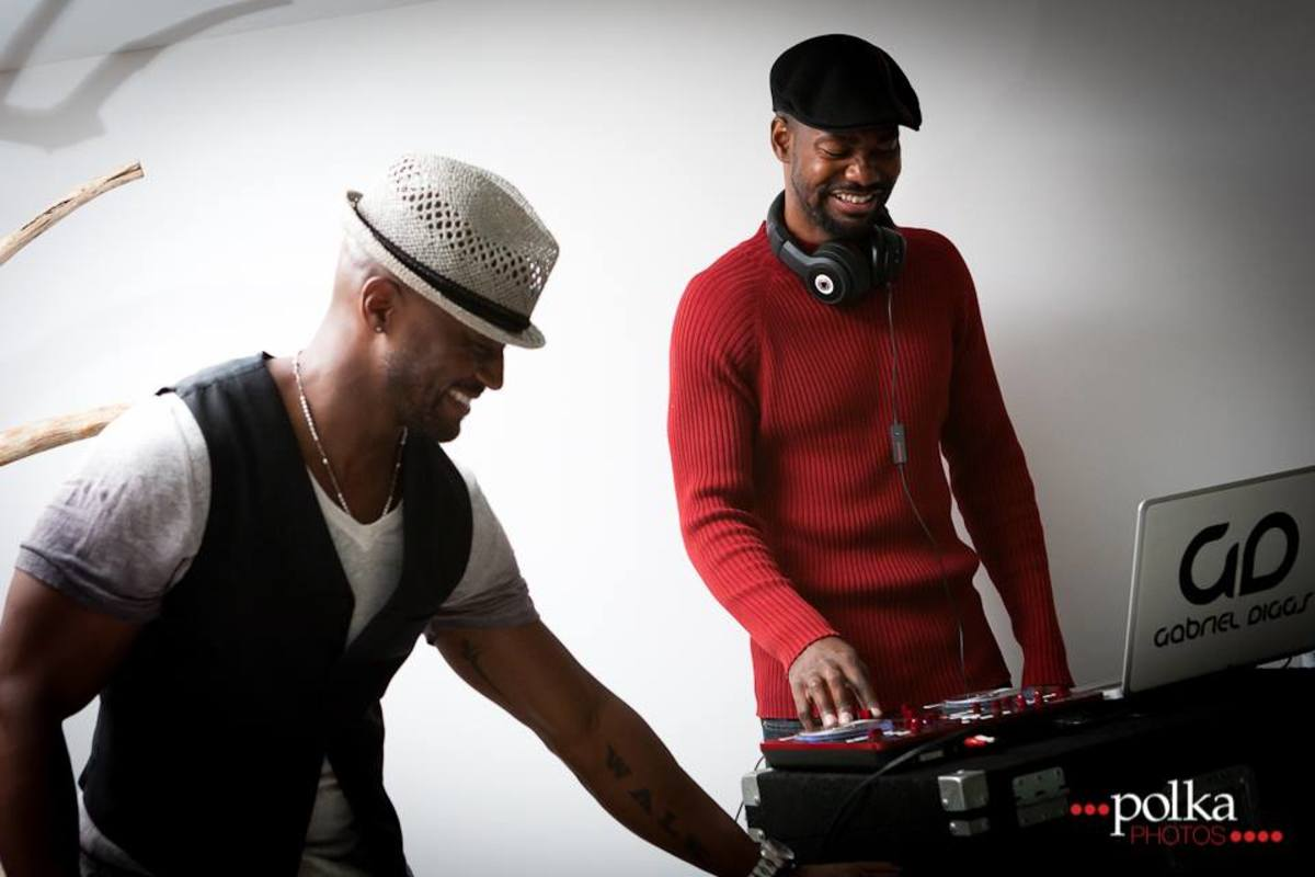 DJ Gabriel Diggs and Taye Diggs
