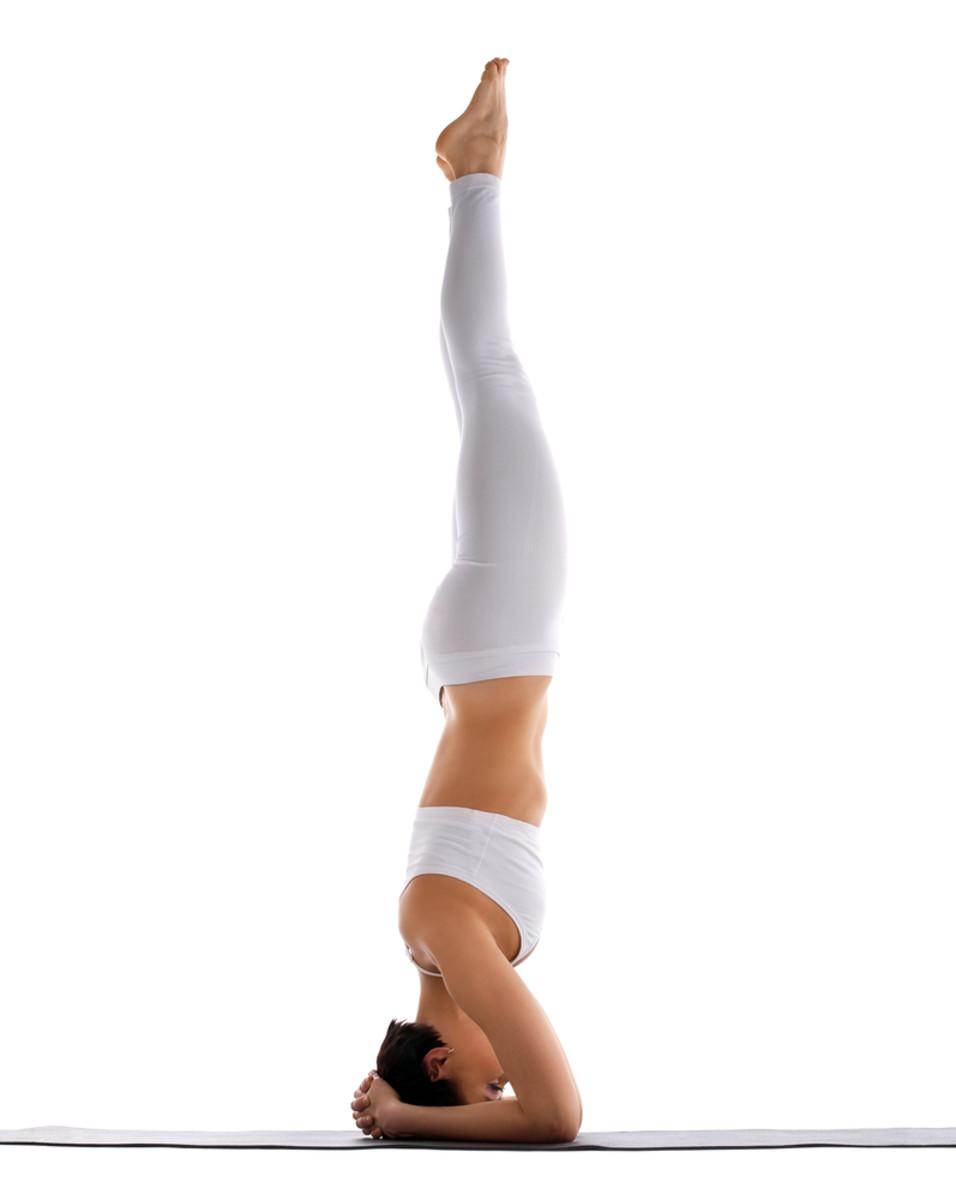 Female Yoga Handstand