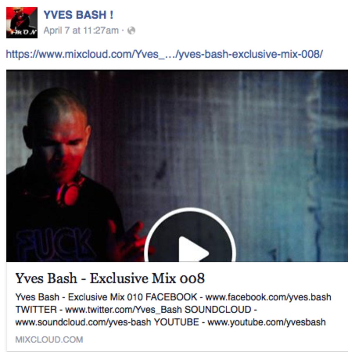 Yves Bash Mixcloud