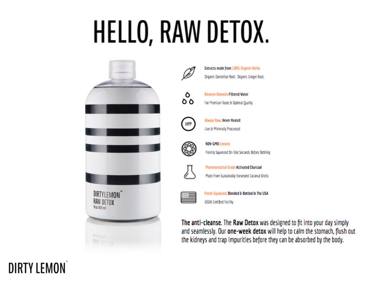 Dirty Lemon Raw Detox