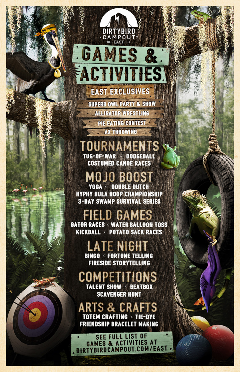 Dirtybird-Campout- East-2018-Games-Activities-Lineup